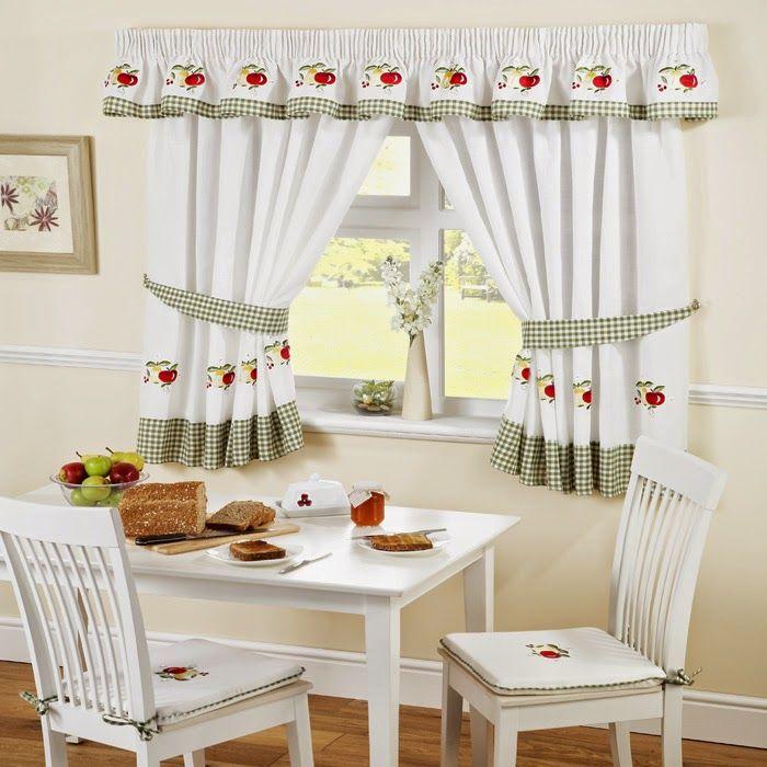 cortina cocina clasica detalles rojos | cortinas cocina tendencias ...