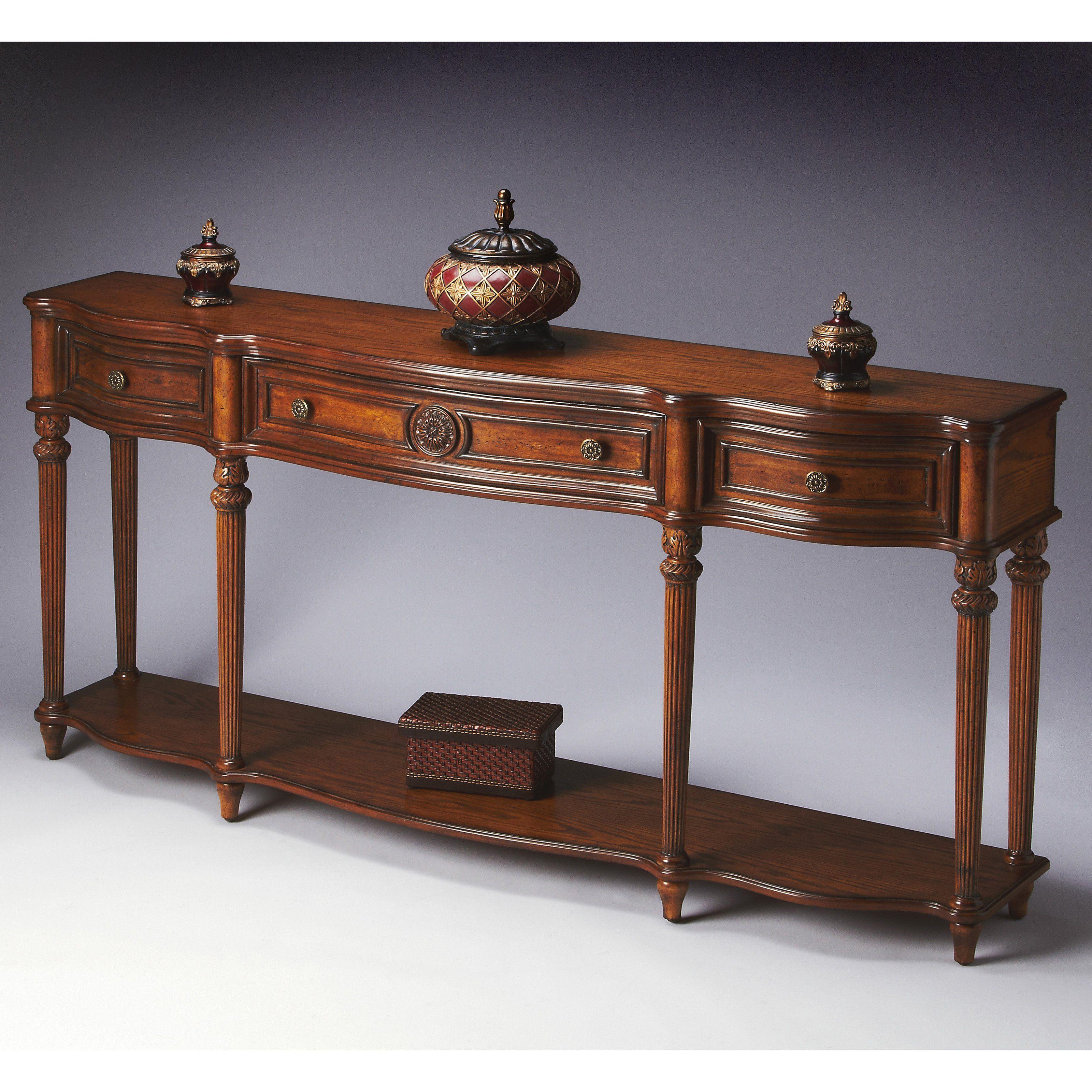 Butler Console Table Vintage Oak Oak Console Table Oak Consoles Console Table