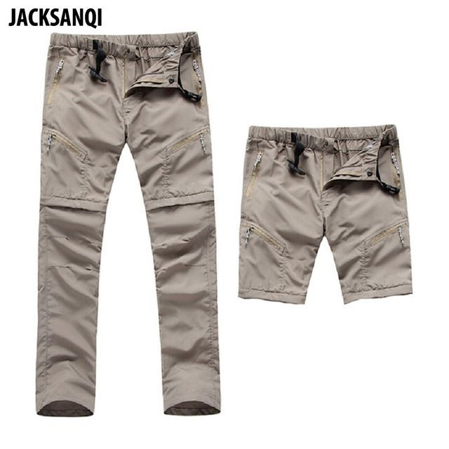 Men/'s Outdoor Detachable Trousers Sport Quick Dry Hiking Camping Traveling Pants