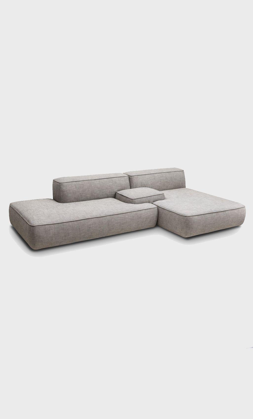 Modular sofa no legs or really small low legs furniture 2 pinterest banken meubels en - Ontwerp banken ...