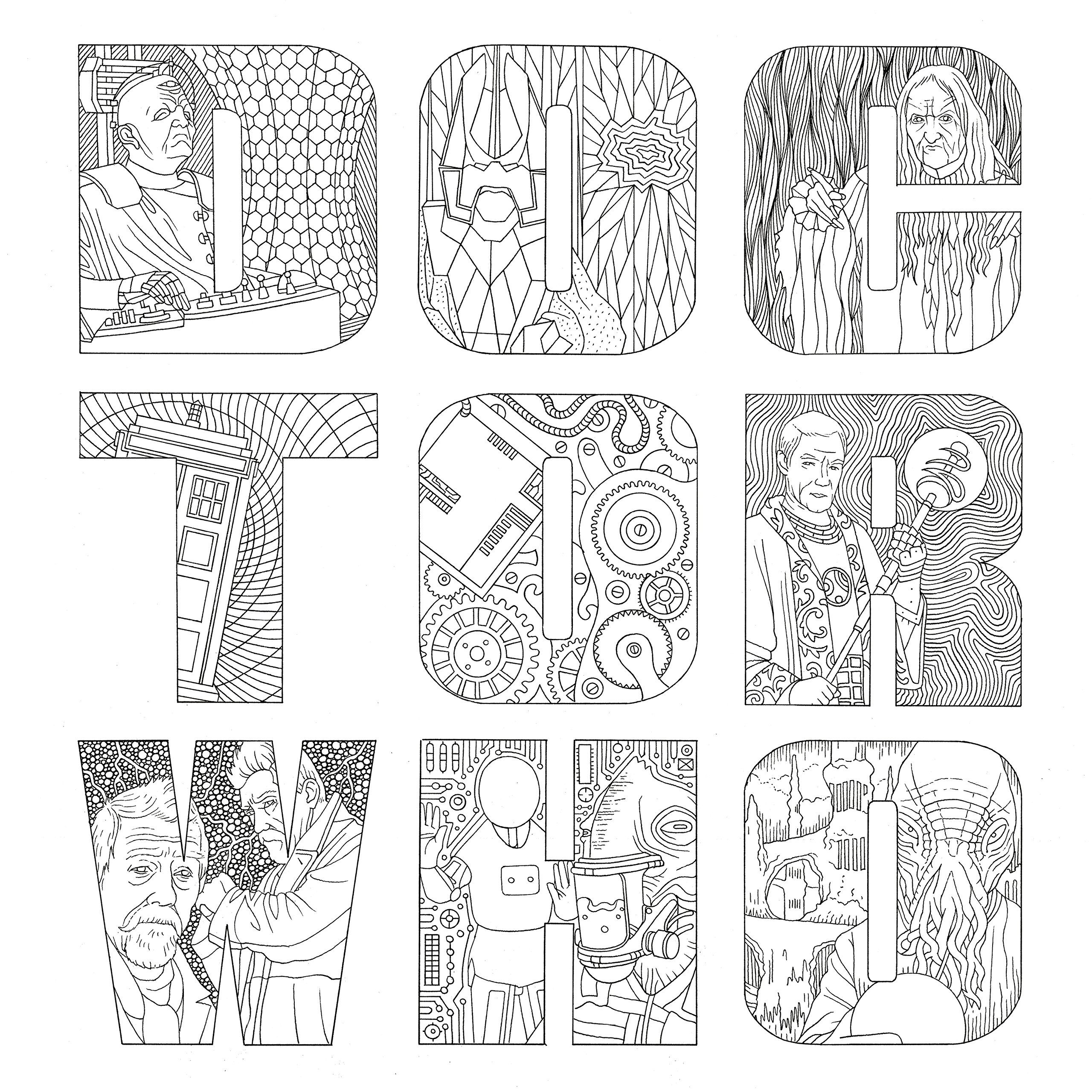 7300 Dr Who Coloring Book Printable Best HD