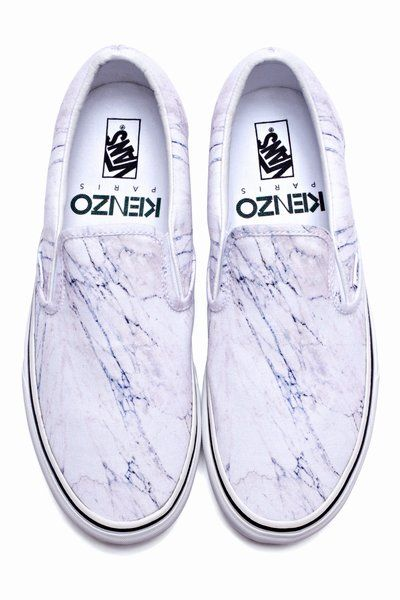 ac1110277e must have these. kenzo x vans marble slip ons