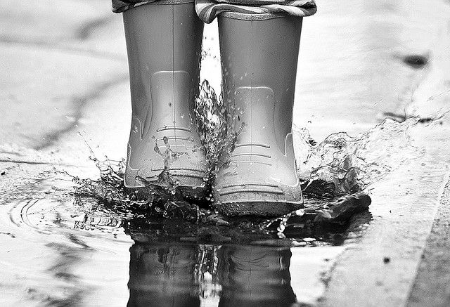 Kid jumping in puddle with rain boots | Playing in Puddles ...