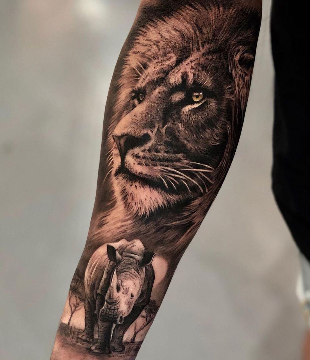 7 Animals Tattoo Sleeve African In 2020 Wildlife Tattoo African Tattoo Animal Sleeve Tattoo