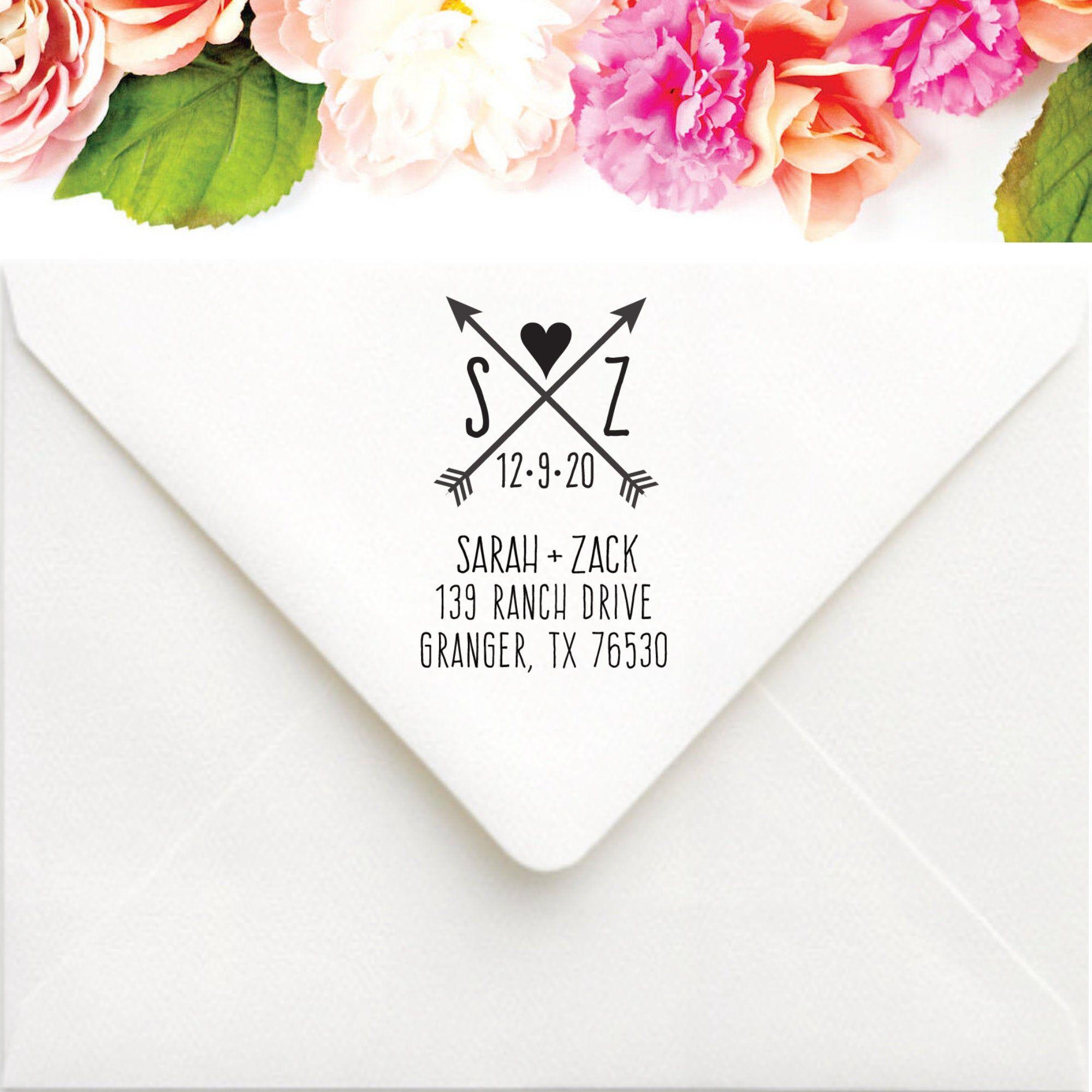 Rustic Wedding Stamp Custom Return