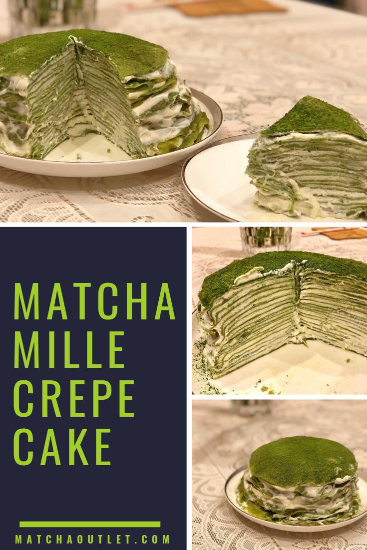 Japanese Ryori Matcha Organic Matcha Dessert Matcha Crepe Cake