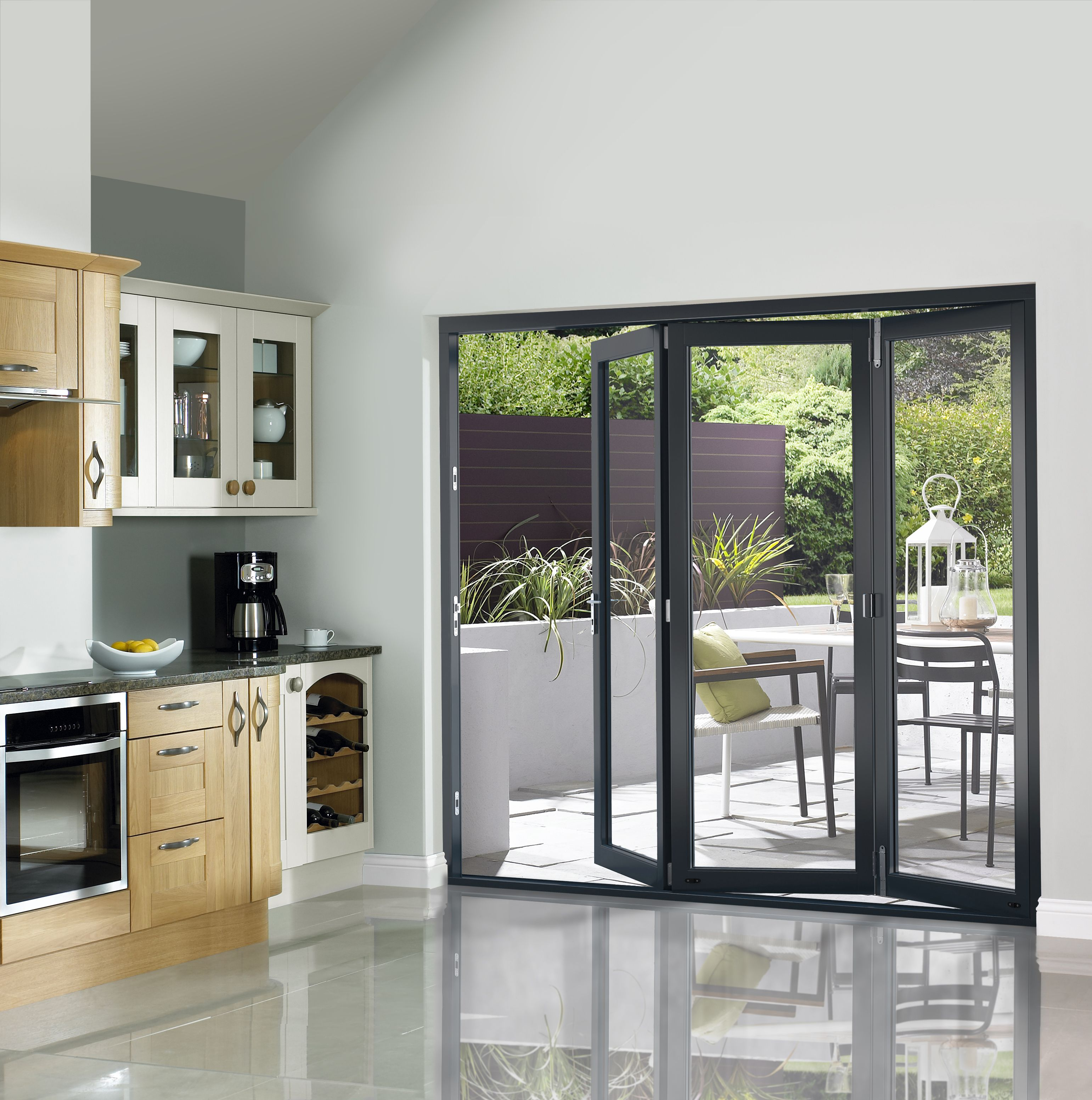 Grey Prefinished External Bifold Doors 1790 x 2090mm