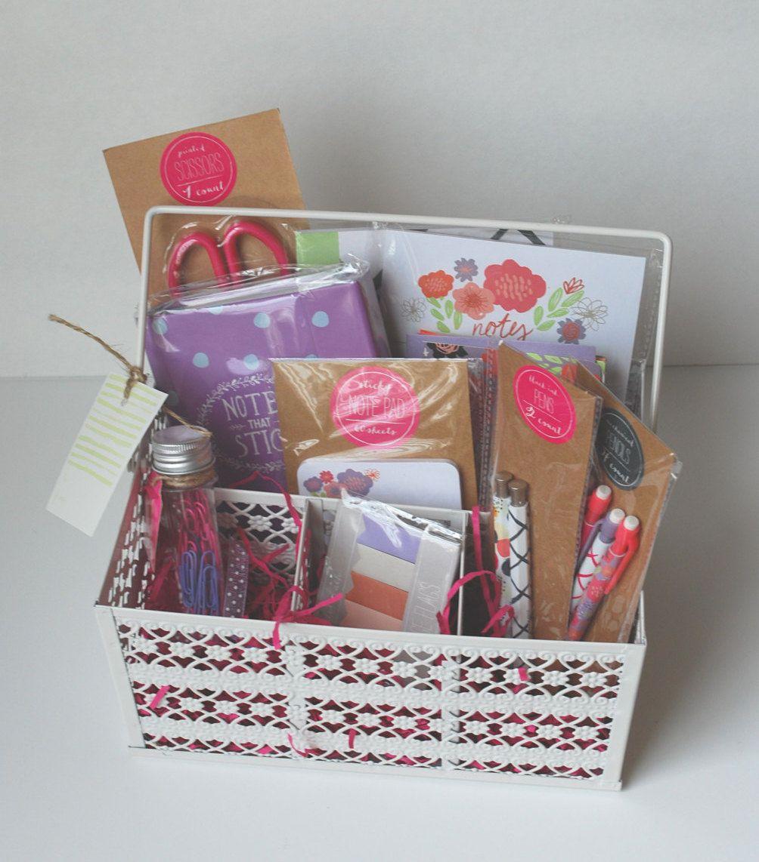 Planner Stationery Kit Target Dollar Spot Gift Basket Lilac Notes ...