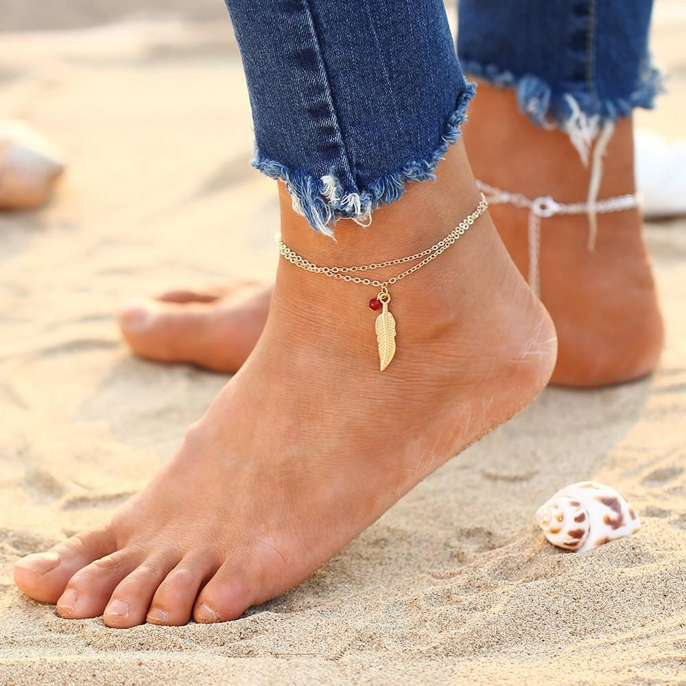 Simple Chic Leather Cord 3mm Anklet Stylish Fashionable Foot Accessory Handmade