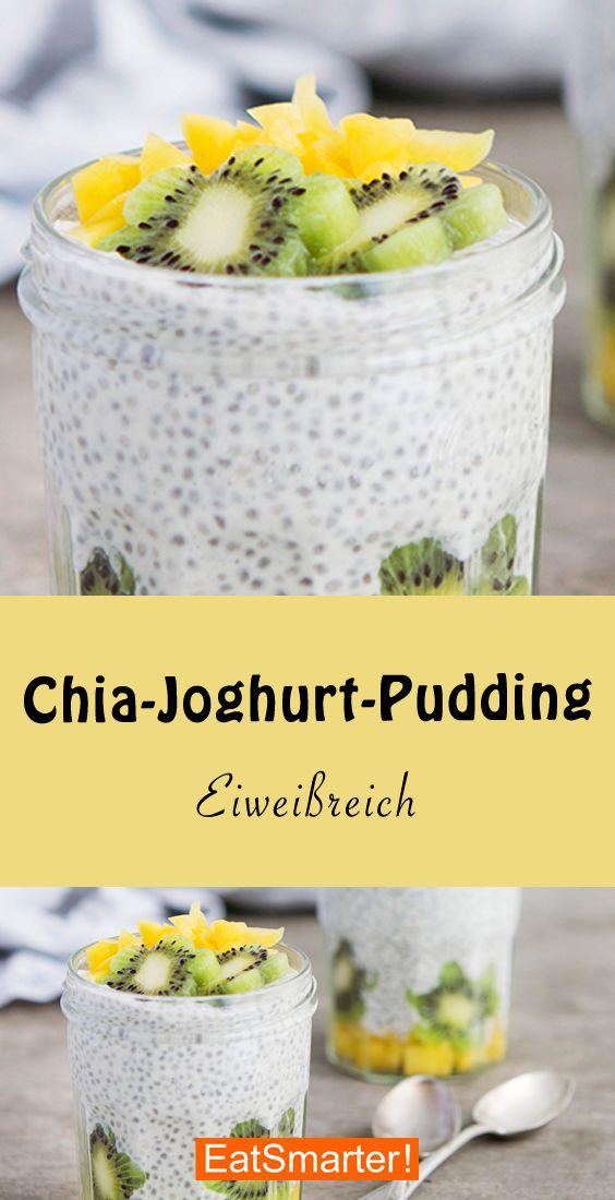 Chia-Joghurt-Pudding | eatsmarter.de #chiapudding #chiasamen #joghurt #chiaseedpudding
