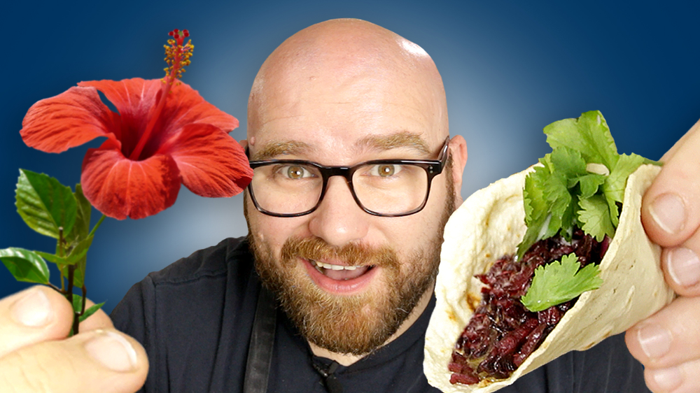 Using Hibiscus To Make A Taco The Tacos De Jamaica Sauce Stache Recipe In 2020 How To Make Taco Vegan Tacos Meat Taco Meat