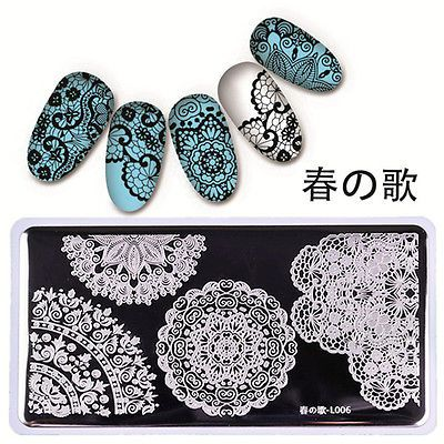 126cm Nail Art Stamping Plate Stamp Template Image Lace Design BORN PRETTY L006 https://t.co/SCI4hBjNID https://t.co/nOp8BIMwm0