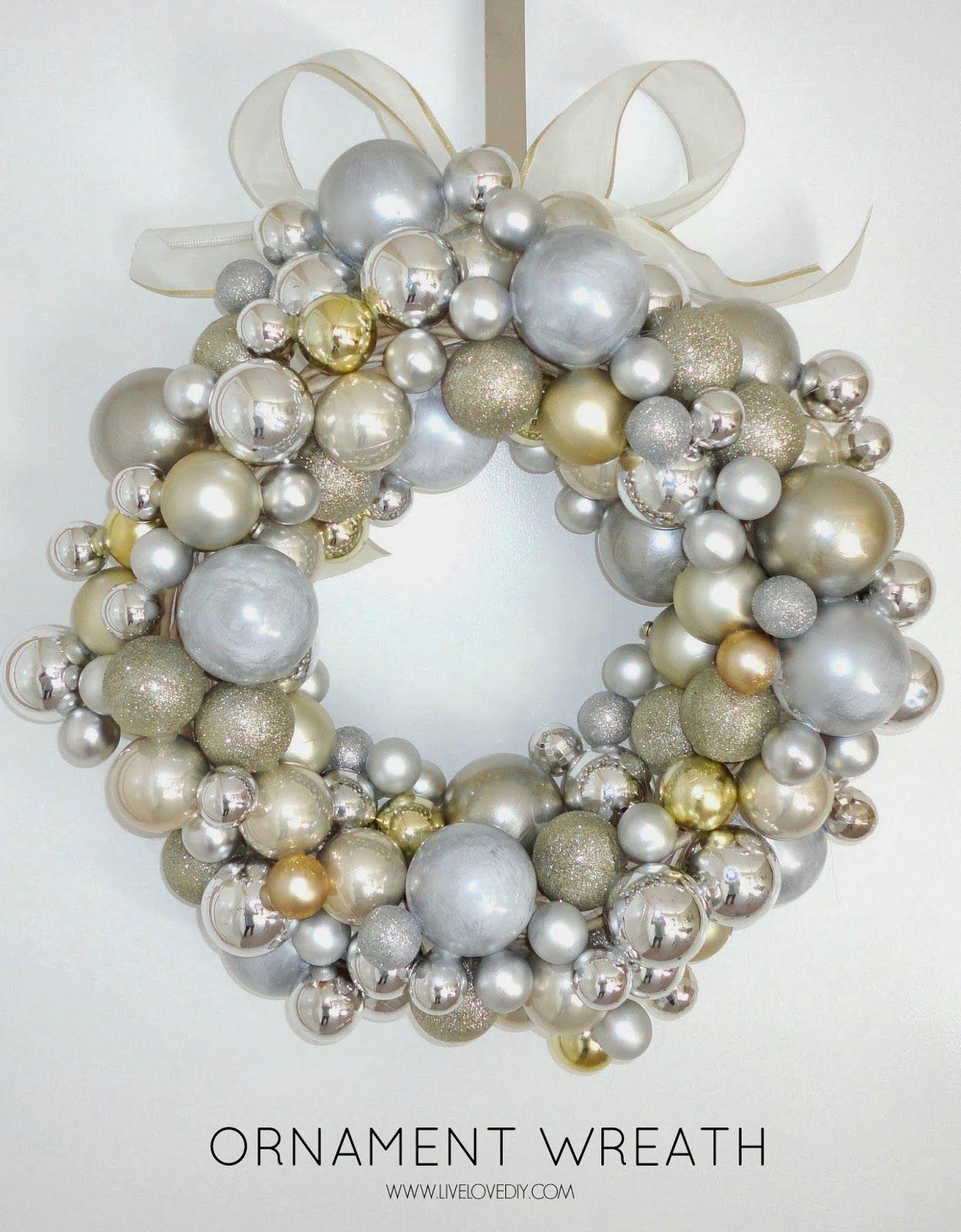 diy christmas ornament wreath