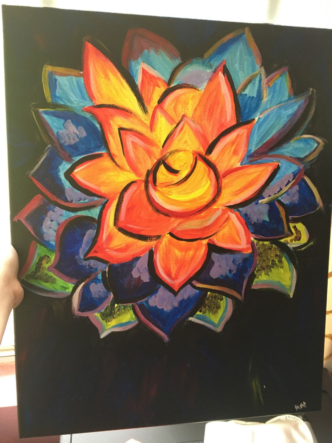 A personal favorite from my Etsy shop https://www.etsy.com/listing/286205211/flower-canvas-painting