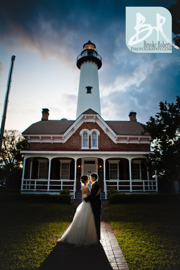 St Simons Island Wedding And Lighthouse Reception Photographers Via Brooke Roberts