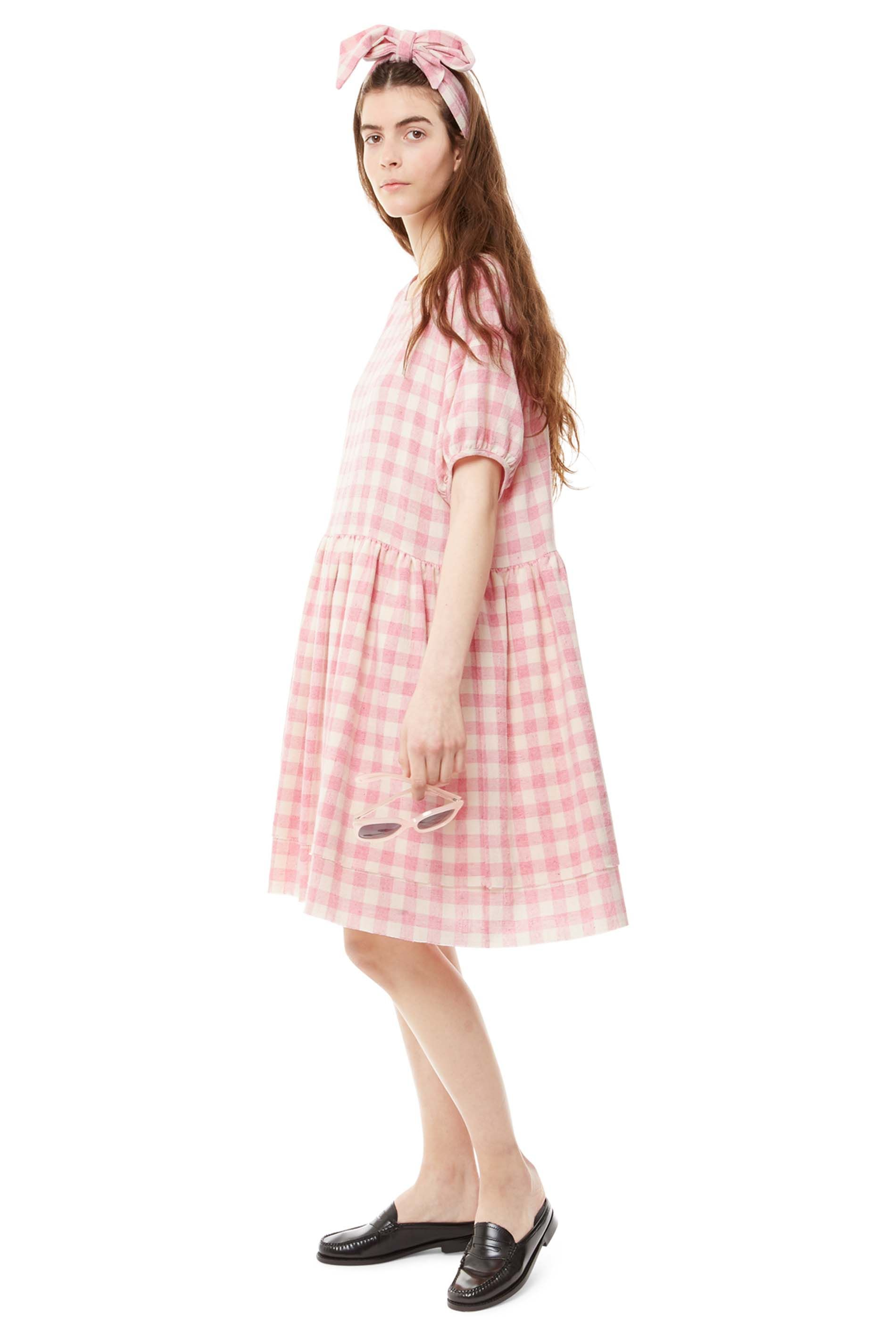 Just Skirts And Dresses Inspiration: Dottie Layered Skirt Dress In Pink Check