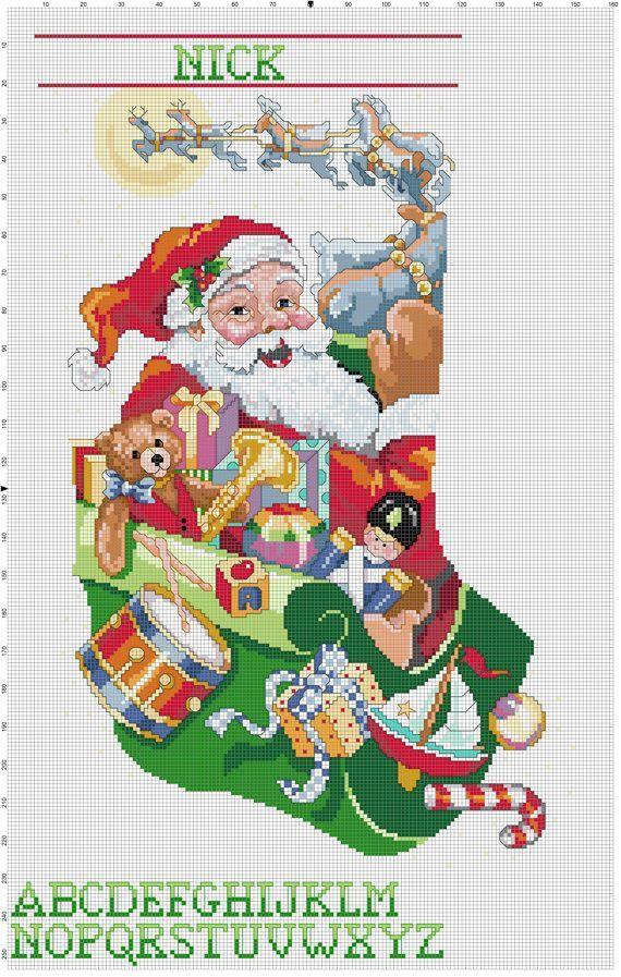 8222210a7ebbc7823b9c9d08d3aee0d8jpg 570897 pixeles bordado pinterest cross stitch stitch and stockings