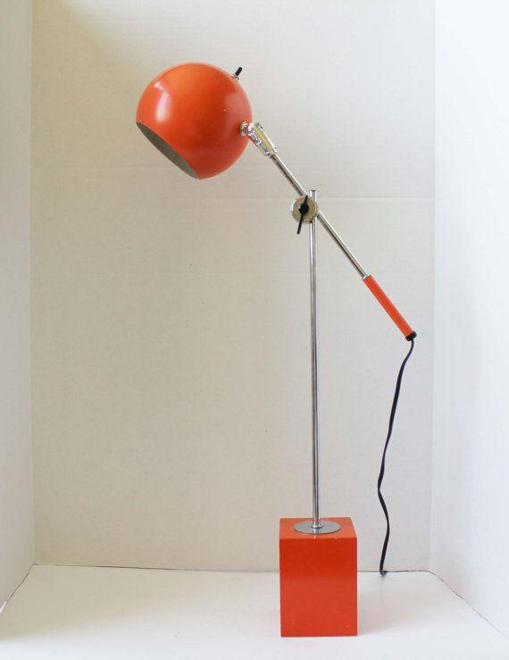 Orange eyeball desk lamp by robert sonneman industrial mid orange eyeball desk lamp by robert sonneman mozeypictures Images