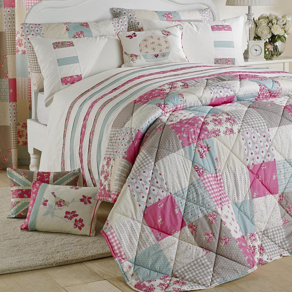Petticoat patchwork pink bedspread bedroom ideas pinterest