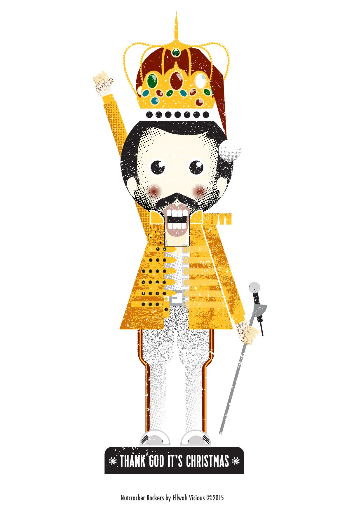 Freddie Mercury (Queen) - Thank God It\'s Christmas, Christmas card ...