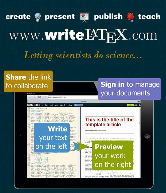 www writelatex com | work page | Latex editor, Latex, Software