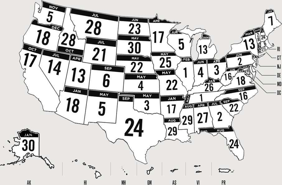 Readygov US Map With Day Of Disaster Dates Community Site - Us gov road maps