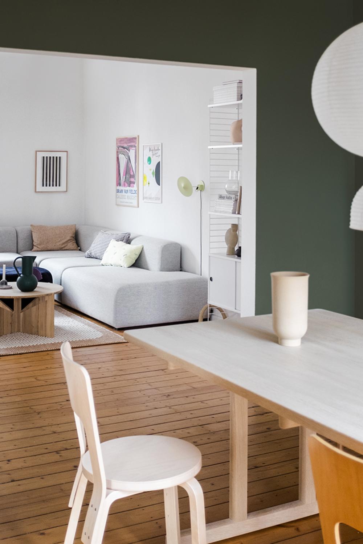 Farbfreude Swantjes Esszimmer In Forestgreen Kolorat In 2020 Haus Skandinavisches Design Zimmer