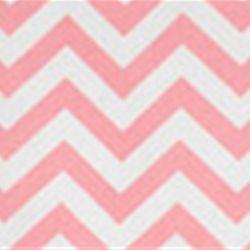 Zig Zag Baby Pink/White Cotton Chevron by Premier Prints - crib skirt