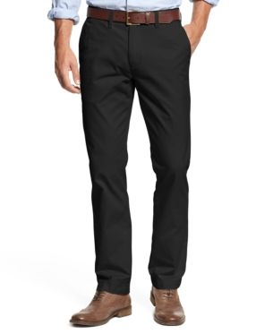 tommy hilfiger black chinos