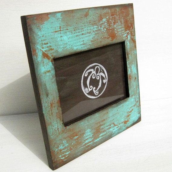 Hand Painted 3 1 2 Quot X 5 Quot Wood Picture Frame With Faux