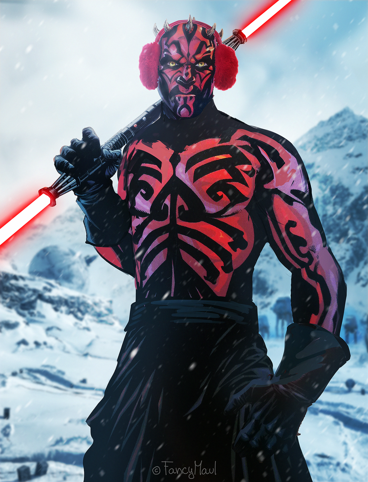 I Present You Darth Maul S Hoth Skin In Battlefront 2 Darth Maul Jedi Art Star Wars