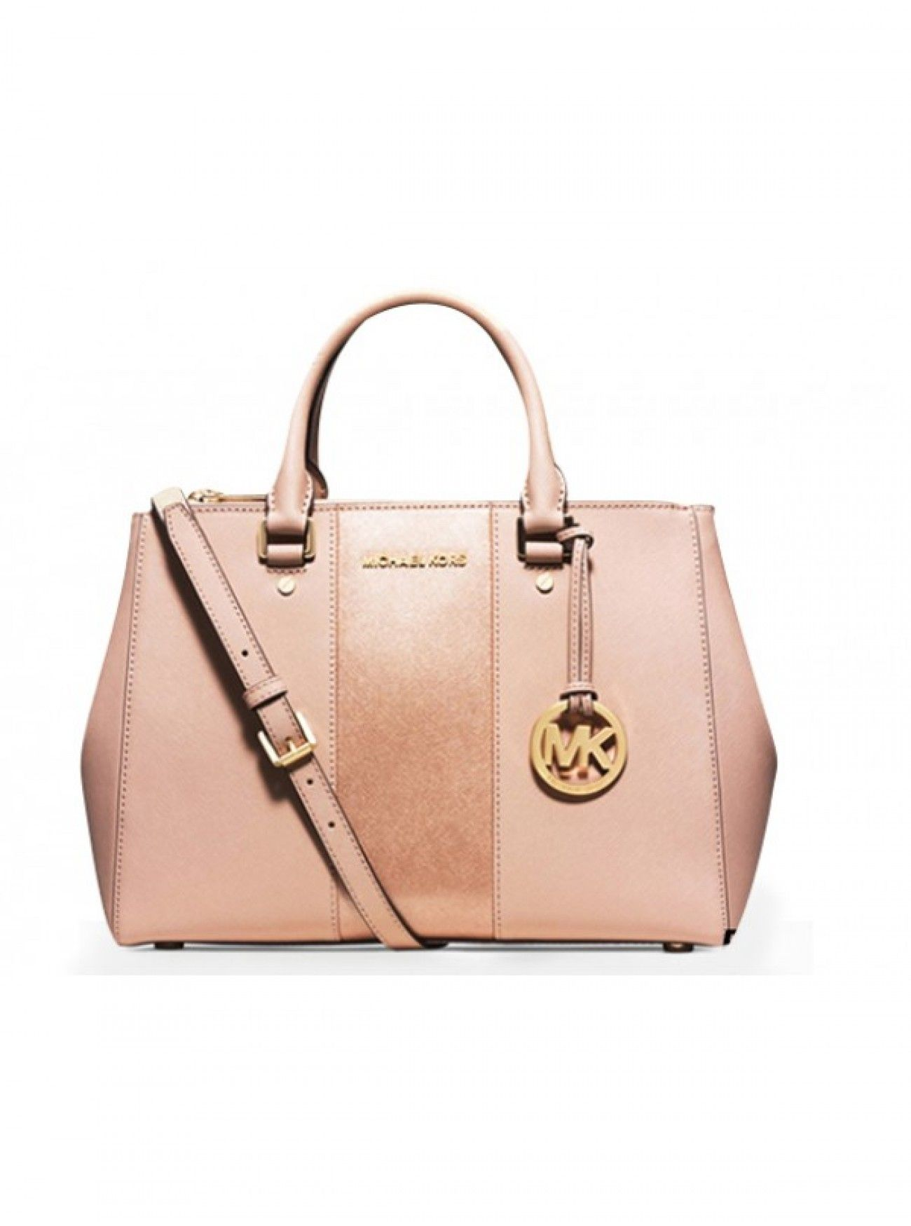 cb9799b4845e Price Michael Kors Large Color-Block Leather Satchel Rose Gold And Pink  Canada Online