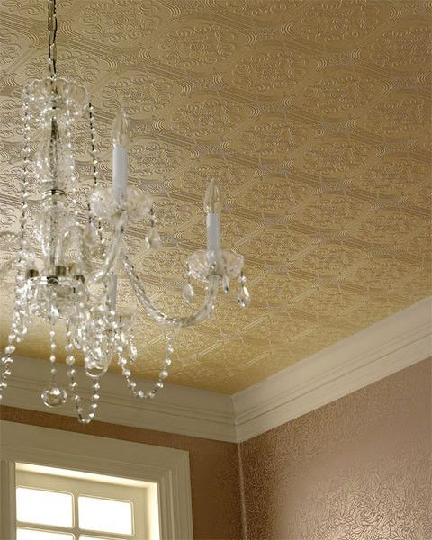 The Beautiful Vintage Textures On This Ceiling Are Created By