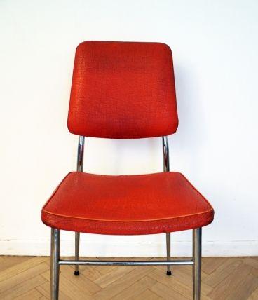 chaise vintage pas cher orange 70's - 18? sur luckyfind.fr ... - Chaise Retro Pas Cher