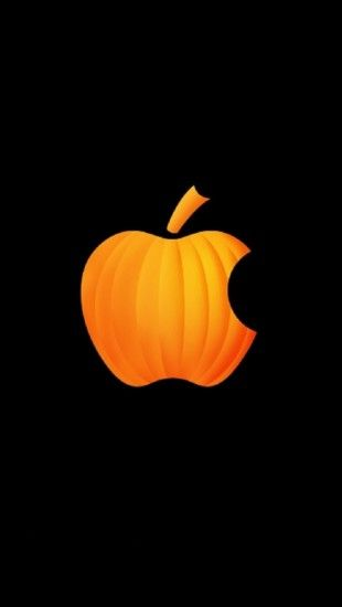 Pumpkin Apple Apple Wallpaper Halloween Wallpaper Apple Logo Wallpaper