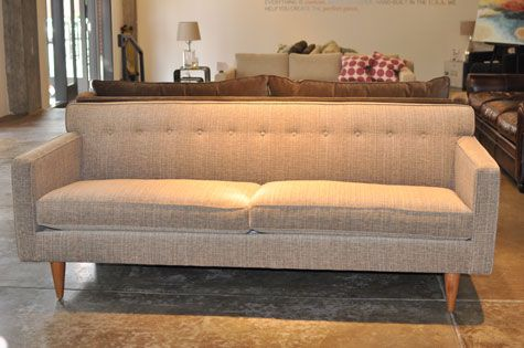 Our Sterling Is The Perfect Mid Century Style Sofa. Cone Legs. Tight, Button