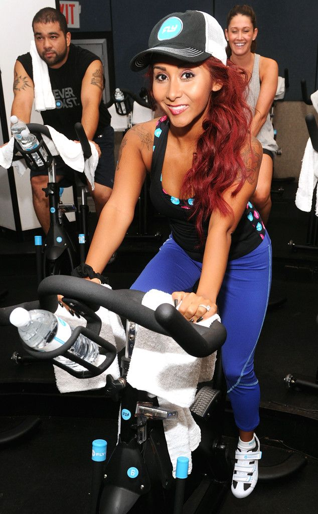 c164d37f9f8 The proudly slimmed-down Snooki breaks a sweat in NYC.