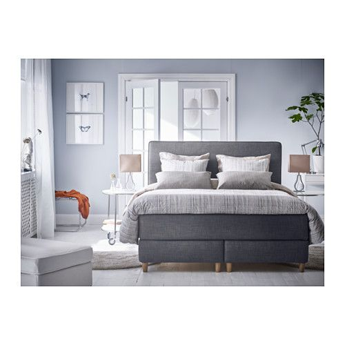 dunvik boxspring h v g middelhard tuss y donkergrijs. Black Bedroom Furniture Sets. Home Design Ideas
