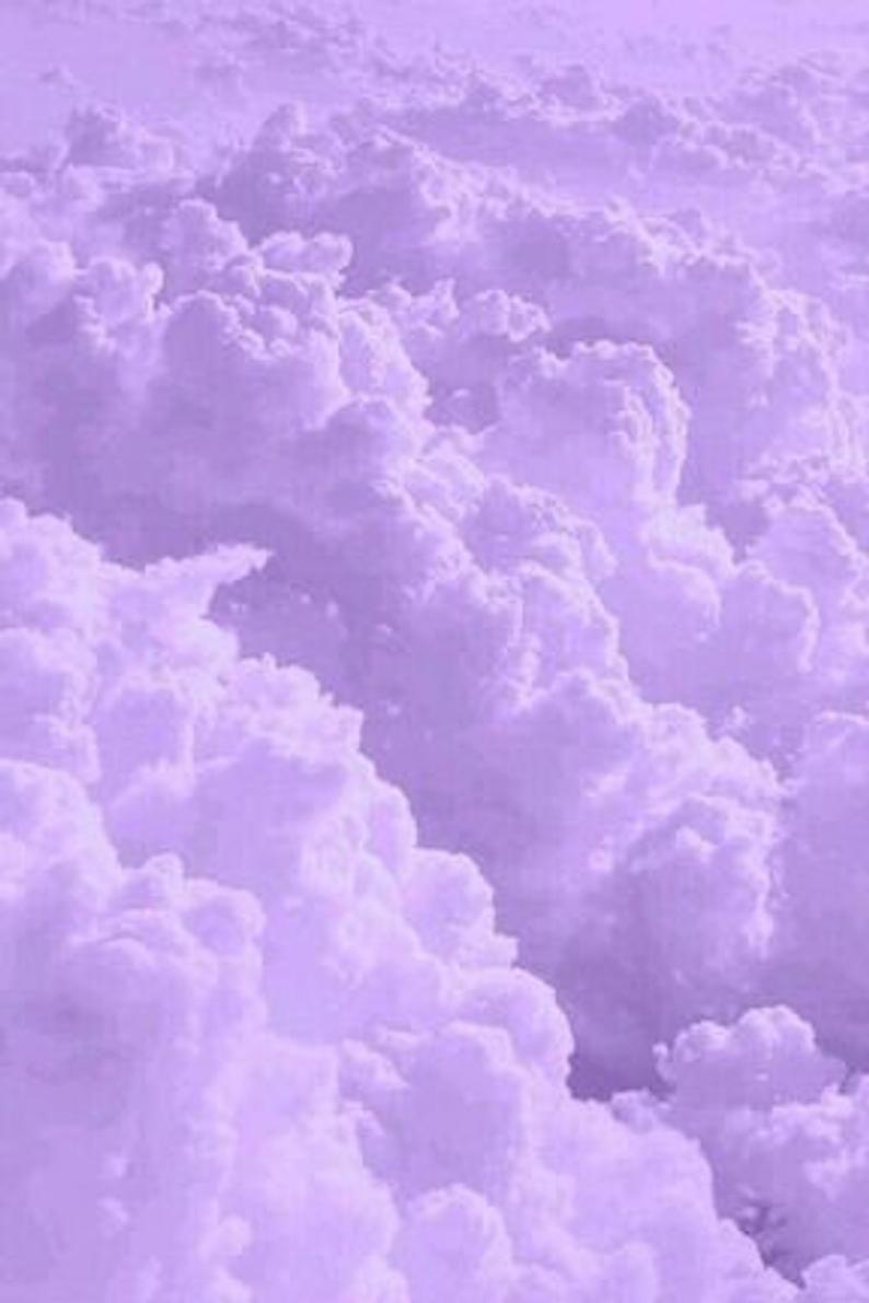 Aesthetic Lavender Collage Kit, 40 pcs