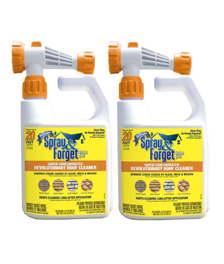 Spray Forget Roof Cleaning Products Spray Forget Roof Cleaning Mildew Stains Roof