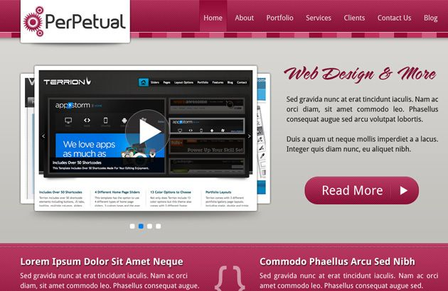 Website Layout Template Perpetual Redux Free Psd Website Layout  Psd Style Free