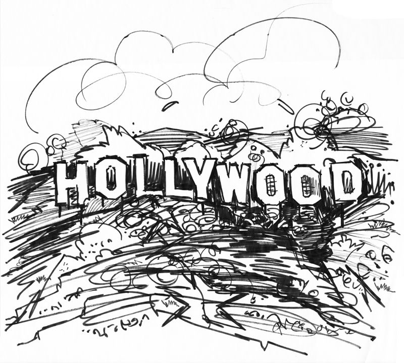 Hollywood Sign Los Angeles Illustration By Jake Marshall Tourism Convention Board
