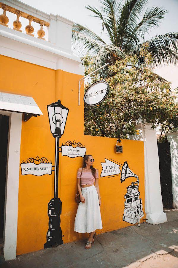 Struinen door het Franse White Town in Pondicherry