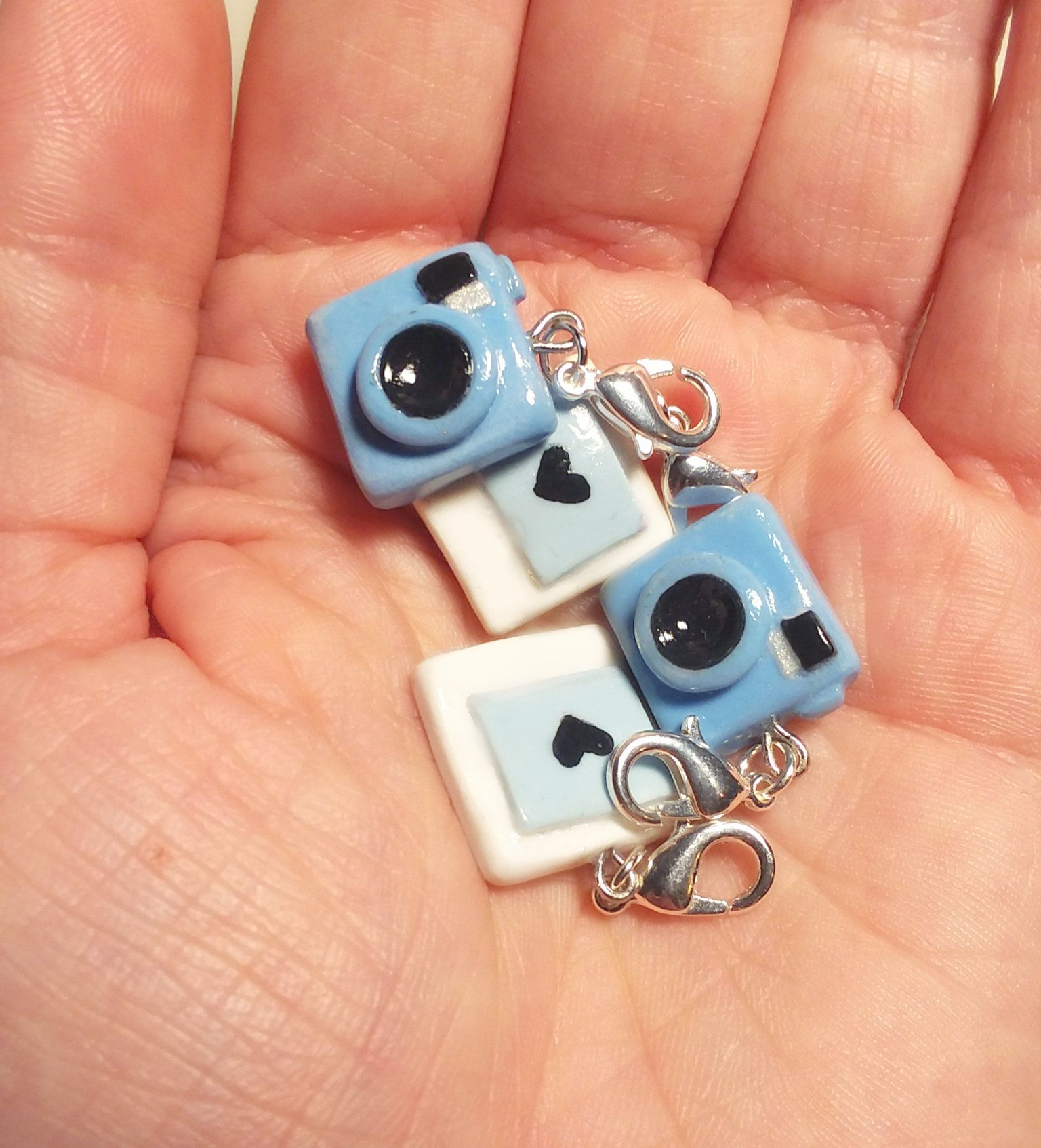 Photo of Camera Charms 4pc – Polymer Clay Stitch Markers – Camera + Picture Charms – Photography Gift