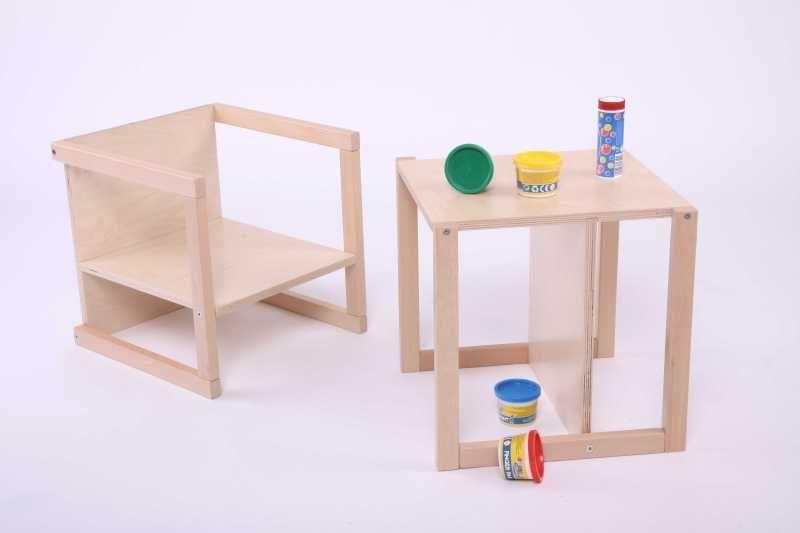 chair becomes a table and vice versa multifunktionaler kinderstuhl tisch hocker. Black Bedroom Furniture Sets. Home Design Ideas