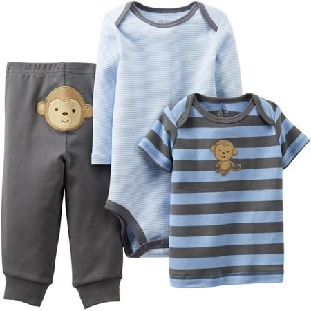 60edba26f Child of Mine by Carter s Newborn Boy Cotton Outfit 3-Piece Set ...