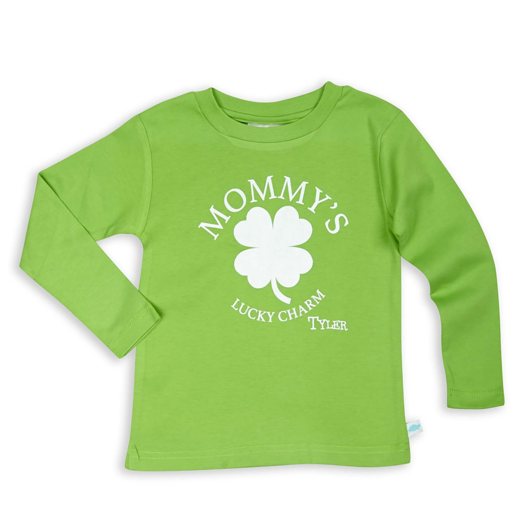 Boys Green Cotton Shamrock Shirt