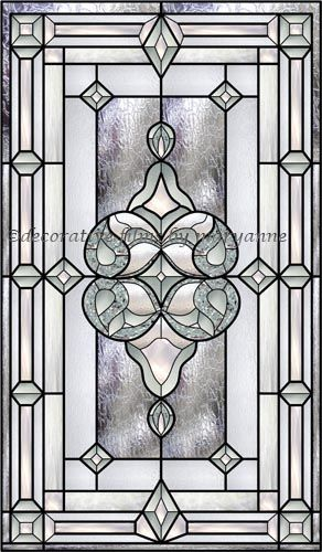 Bevel Stained Glass Window 1 Decorative Window Film Stained