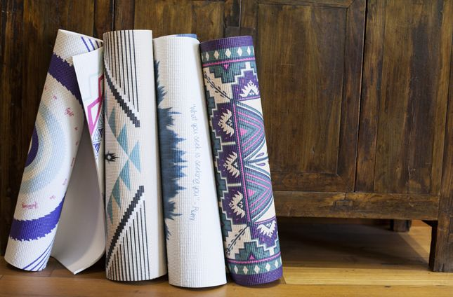 New yoga mats from La Vie Boheme. http://www.swell.com/Search?q=la+vie+boheme&utm_source=blog.swell.com&utm_medium=WIW-boheme&utm_campaign=062514