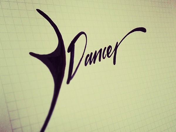 Lettering sketches by Tadas For Sure